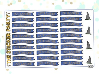 Outlander TV Show Planner Stickers Outlander Planner Stickers