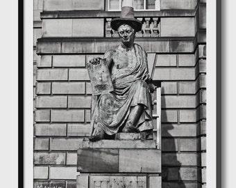 A sculpture with humor in Edinburgh