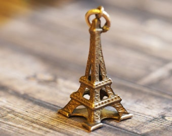 Lovable Eiffel Tower Charm or Pendant Crafted in 14Kt gold