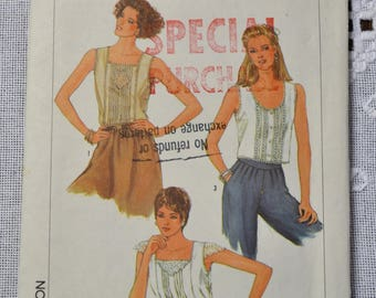 Vintage Simplicity 6912 Sewing Pattern Misses Top Size 10 Crafts  DIY Sewing Crafts PanchosPorch