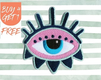 Evil Eye Patch All Seeing Eye Patch Iron On Patch Embroidered Patch Sew On Patch Patches For Jackets