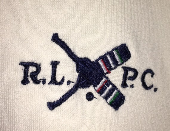 RL92 Cricket Sweater Pullover Vintage RLPC Rare Lo PRL RPL Sweatshirt Lauren Bear Stadium Ralph Pwing Polo Polo Embroidery Stripes Jumper 0ZXq1