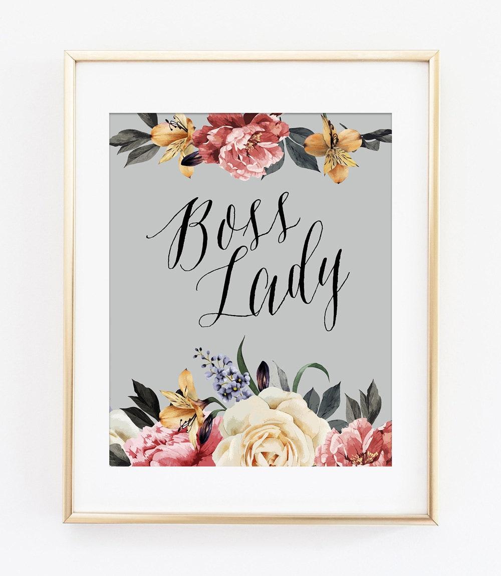 Boss Lady Art Print Boss Lady Print Unique Gift Idea for