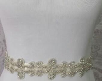 SALE -Sparking sash -Wedding Sash - Bridal belt - bridal sash - bridal rhinestone sash - bridal rhinestone belt