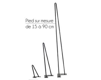 Feet two stems of 15 cm to 90 cm - Hairpin legs
