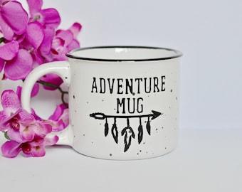 13oz Adventure Campfire Mug - Green, Red, or White