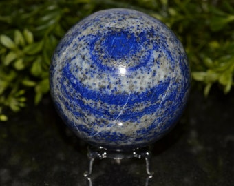 Lapis Lazuli Sphere 77 MM, Sphere Stand Included