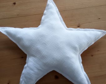 Star cushion white double gauze