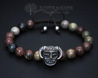 Warrior Helmet Bracelet, Mens Bracelet, Helmet charm , Mens Jewelry, Christmas Gift, Braccialetto-Pulsera Armband Rannekoru Karkötő Náramok