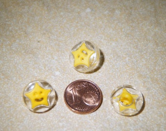 button star 15mm yellow