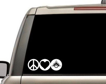 Peace, Love and New Republic decal