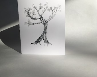 """Pack of 5 - """"Outstretched Branches"""" Greeting Card"""