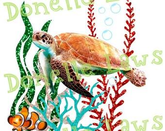 Sea Turtle Print N cut file