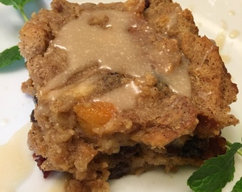 New Orleans Bread Pudding with Jack Daniel Rum Sauce