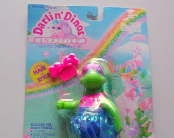 Vintage Darlin Dinos Snazzies Dinosaur Action Figure Toy NIB 1992