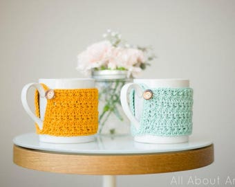 Star Stitch Cup Cozy Crochet Pattern
