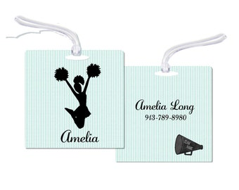 Cheerleader Bag Tag  Bag Tag Personalized Cheer Bag Tag Personalized Cheerleader Bag Tag Bag Tag  Cheerleader Tag RyElle Cheerleader