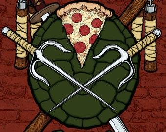 Turtles Raisn' Shell Poster