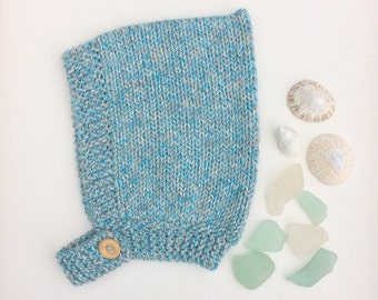 Beachcomber Pima Cotton Pixie Hat - Blue Water - Made to Order