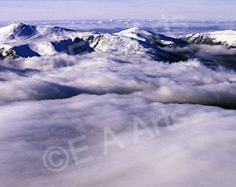 Mt Washington, NH -Panoramic Photography Lake Of Clouds  Panoramic Art Wall Decor