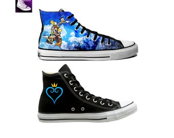 Video Game Inspired Hand Painted Canvas Converse Shoes