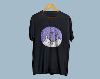 Space Shirt UFO T Shirt Nasa Printed T-Shirt NASA T-Shirt Nasa Tee Space T-Shirt Sience Shirt Cool Tee Nasa Gift Friendsgiving  TU1030