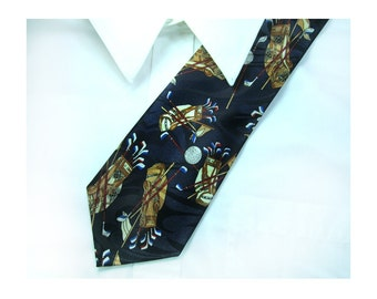 Golfer's tie - golf'gift - neck wear - trendy tie - statement tie - designer tie , Men's neck accessories ,  # T 78