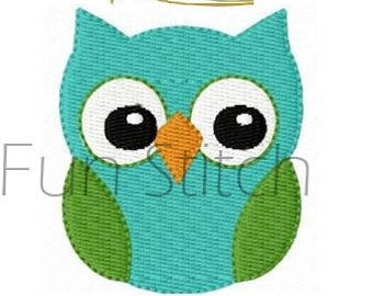 mini owl machine embroidery design