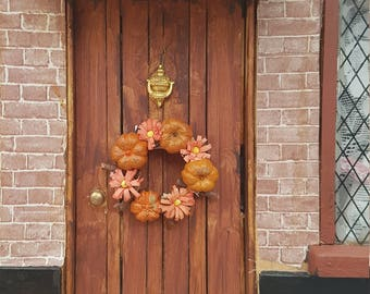 Miniature Pumpkin Wreath