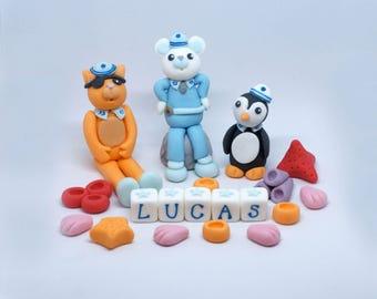 Handmade Sugar Octonauts Style Cake Decoration/Topper