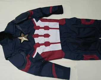 Civil War Captain America Costume Suit (Replica) : Movie/Comic. Made From Cordura and Leather.