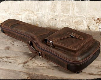 The Revelator Full Grain Leather Guitar Case, Whiskey