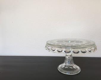 Antique Glass Cake Stand