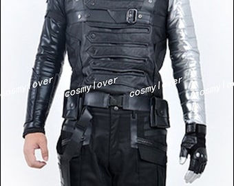 Captain America The Winter Soldier Bucky Barnes Custom Made Cosplay Costume