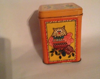 Orange Flower Tin