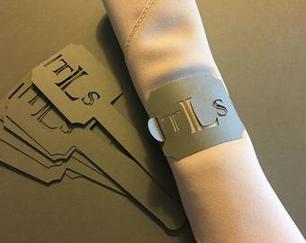 Personalized Paper Napkin Rings (Qty of 100)