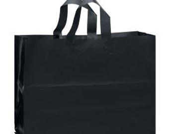 25-Large Black Frosty Shopper 16x6x12