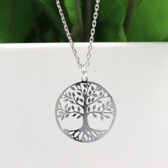 sterling silver chain necklace and tree of life gm 925 Silver