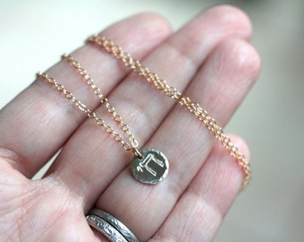 Jewish Chai Necklace - Gold Filled Hand Stamped Chai Necklace - Hebrew Jewelry - Jewish Necklace