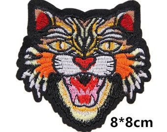 luxury patch,tiger patch,tiger head patch,embroidery patches,angry cat patch,patches for jeans jackets denim,tiger patch,appliques