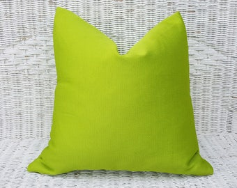 Chartreuse Pillow Cover, Solid Green Pillow, Yellow Green Pillow, Green Toss Cushion, Green Throw Pillows, Chartreuse Cushion, 12x18, 18x18