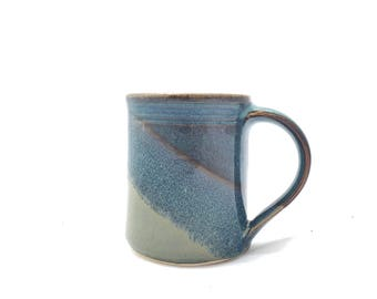Handmade Ceramic Mug Gray Blue - Slate / Twilight Ceramic handmade clay mug -- Ceramid hand thrown pottery mug
