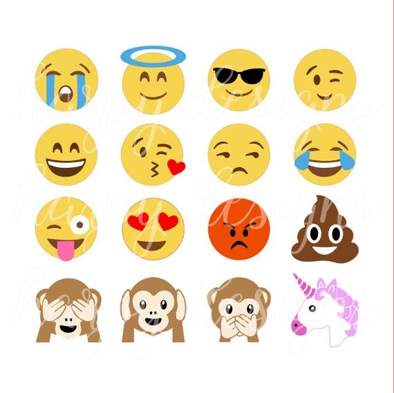 dessins de emoji svg svg emojis crotte emoji svg licorne emoji svg singe emoji svg eps svg fichiers htv - Dessin Emoji