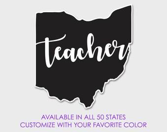 Teacher State Decal - Small Window