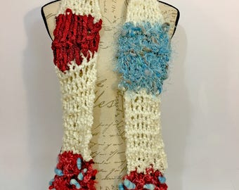 Winter Scarf, Hand Knit Scarf, Gift For Her, Wool, Sashay,