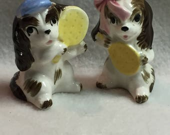 Salt and Pepper - Boy and Girl Tennis Dogs (#052)