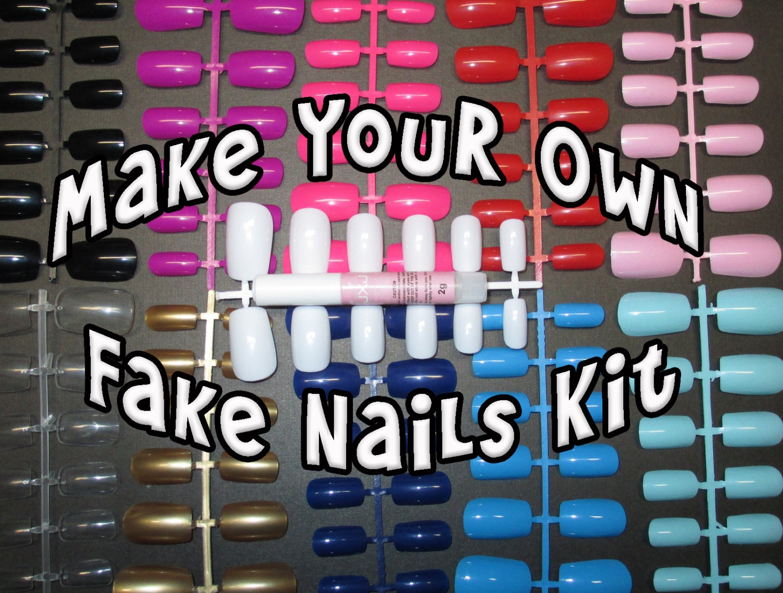 Make your own fake nails kit blank nails base coat zoom prinsesfo Images