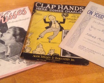 Sheet music mid century Clap Hands On Your Anniversary Kisses