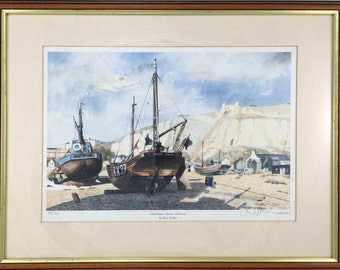 """Limited edition, signed fine art print """"Fisherman's Beach, Hastings"""" by Ron Dellar"""