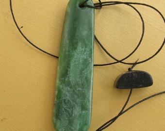 Greenstone Jade Ponamu From New Zealand Pendant #139